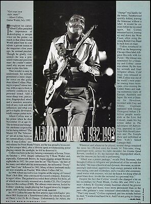 Albert Collins 1932 - 1993 death tribute 8 x 11 article print