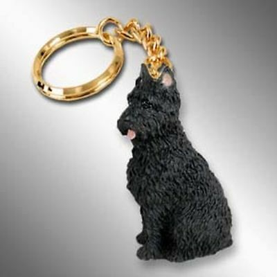 Bouvier des Flandres Cropped Ears Dog Tiny One Resin Keychain Key Chain Ring