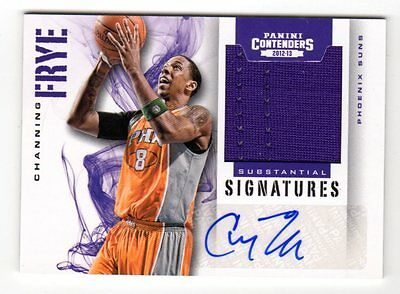 Channing Frye Nba 2012-13 Panini Contenders Substantial Signature Material (Suns