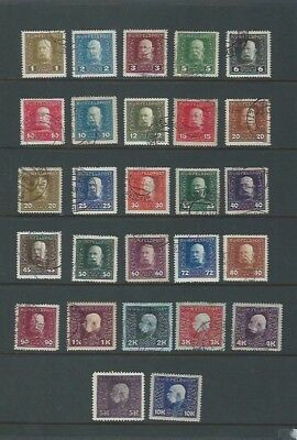 Austro-Hungarian Military Post (General Issue) 1915 Used sg 22/48