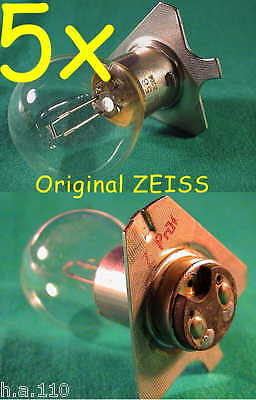 5x ZEISS 6V 30W BA20d OPMI HNO MIKROSKOP OPHTHALMOSKOP OP LAMPE LEUCHTE MED LAMP
