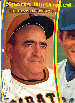 Gil Hodges, Murtaugh & Durocher Autographed Sports Illustrated Cover PSA/DNA