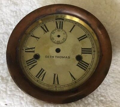 Vintage SETH THOMAS WWII ERA SHIPS CLOCK-SHIPS Not Working