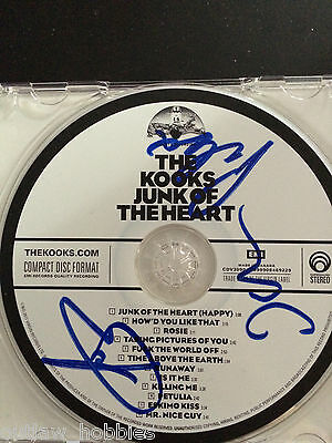 The Kooks Junk of the Heart Autographed Signed CD COA