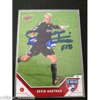 Dallas FC Kevin Hartman Signed Autographed 2011 Upper Deck UD MLS Card
