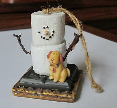 S'MORES Ornament SNOWMAN and YELLOW DOG Smores MIDWEST CANNON FALLS