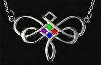 LOOK Dragonfly Celtic Infinity Knot Silver 925 charm STONES!