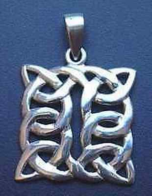 LOOK Celtic Knot of Infinity Silver pendant charm Jewelry