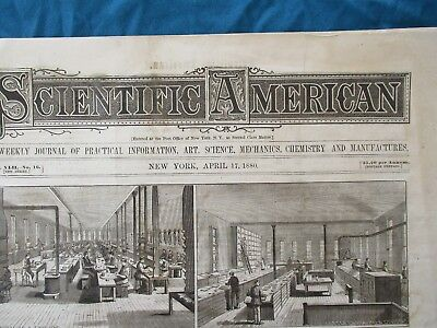 1880 Edison Lamp Invention,Carnegie,Whaling PICTURES,Scientific American News!