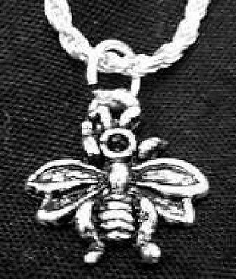 LOOK Bumble Honey Bee Wasp Silver jewelry charm Pendant