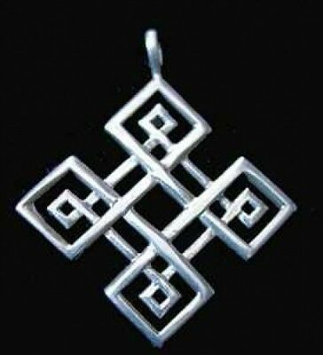 LOOK Celtic Compass Knot of Infinity Silver charm Jewelry