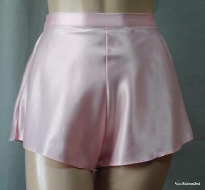 VINTAGE SILKY PALE PINK SATIN FRENCH KNICKERS PANTIES Sm     o