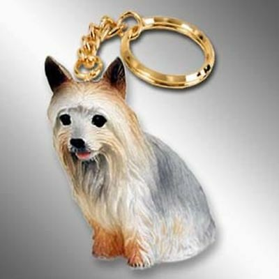 Silky Terrier Dog Tiny One Resin Keychain Key Chain Ring