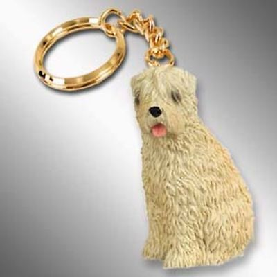 Soft Coated Wheaten Terrier Dog Tiny One Resin Keychain Key Chain Ring