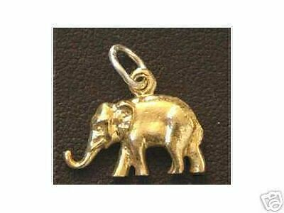 LOOK 1478 Gold Plated Elephant Pendant charm Sterling silver