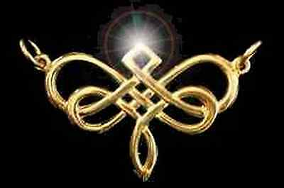 LOOK 0561 Gold Plated Dragonfly Celtic Infinity Knot Charm