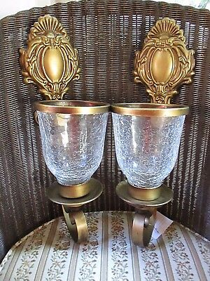 HOME INTERIORS Pair of WALL SCONCES McKenzie # 33614 NEW in Box