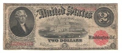 1917  Two Dollar  United States Legal Tender Note  Thomas Jefferson
