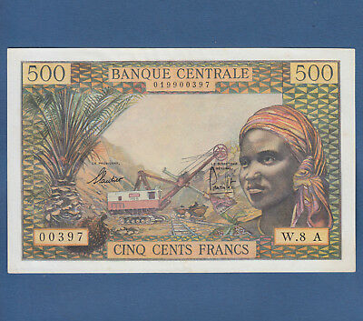EQUATORIAL AFRICAN STATES / CHAD 500 Francs (1963)  aUNC  P.4