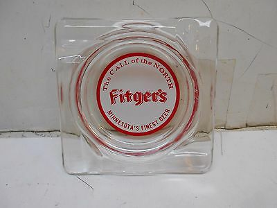 vintage Fitger,s beer advertising glass ashtray brewania