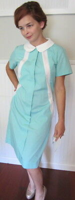 NEW in Bag Unissued Vintage Diner Waitress Uniform Dress Large Angelica USA Made