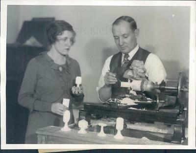 1931 Press Photo Philadelphia PA Mineral Fingerprinting Machine - ner17727