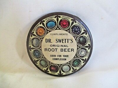 Compliments Dr. Swett 's Original Root Beer Celluloid Mirror Good For Complexion