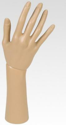 One Female mannequin hand (life size) to dispay gloves- 1 Right Plastic Hand
