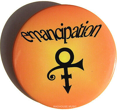 PRINCE Badge Emancipation USA Official PROMO Only Pin Badge MINT
