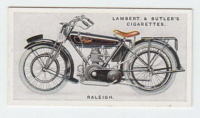 Vintage 1923 Motorcycle Card RALEIGH  Raleigh Works Lenton, Nottingham