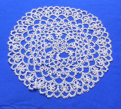 """Antique Tatted Tatting Lace Doily 10"""""""