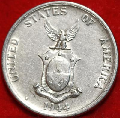 1944-S Philippines 50 Centavos Silver Foreign Coin Free S/H