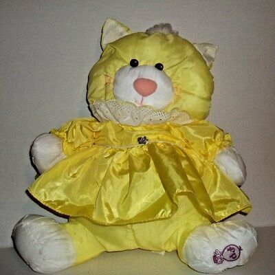 Fisher Price Puffalump  Cat With A Yellow Outfit  Vintage 1986 Euc