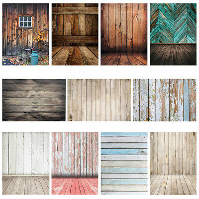 3x5FT 5x7ft Retro Black White Wood Wall Photography Backdrop Studio Background