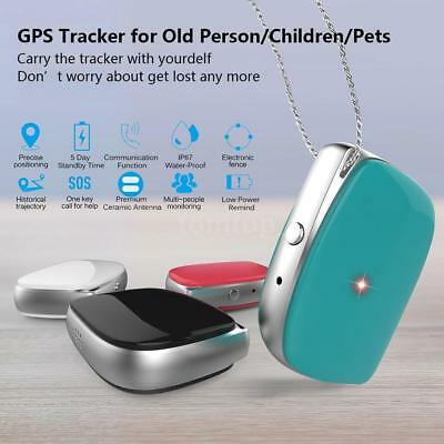 Mini GPS Locator for Kids Old Pets Vehicle GSM Real-Time Tracker Finder