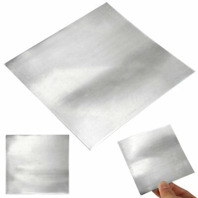 5Pcs Pure Zinc Zn Sheet Plate High Purity 99.99% For Science Lab 140x140x0.2mm