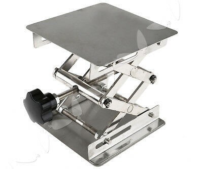"4"" x 4"" Stainless Steel Lab Stand Table Scissor Lift laboratory Jiffy Jack"