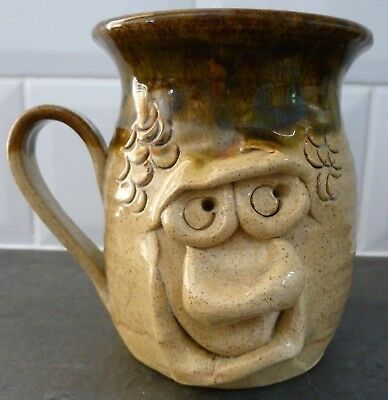 PRETTY UGLY POTTERY MUG   MADE IN WALES  11.5cm