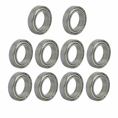 6802Z 24mmx15mmx5mm Single Row Sealed Skating Deep Groove Ball Bearing 10 Pcs