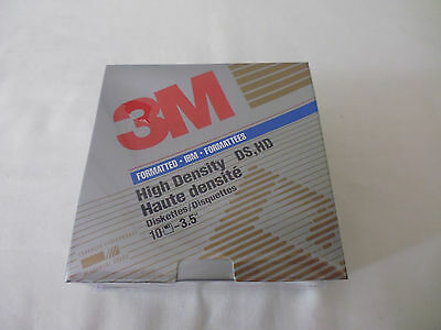 3M Diskettes - 10 X 3.5 High Density Diskettes / Ds, Hd - Sealed