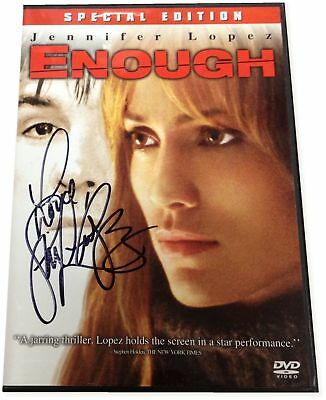 Jennifer Lopez Enough Autograph Signed DVD Signed on Plastic cover GA COA