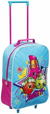 Children Kids Girls Shopkins Trolley Bag Outdoor Travel Carry On Luggage