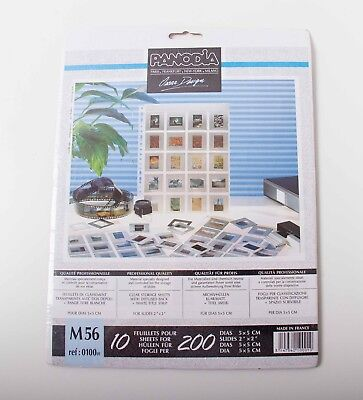 Slide film clear punched storage sheets 10 pack NEW photography for 200