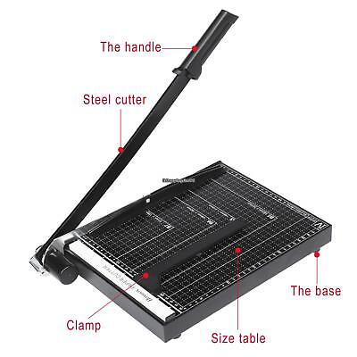 Paper Photo Cutter Heavy Duty METAL BASE booking Blade Fit A4 to B7