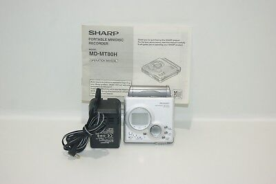Sharp MD-MT80 Personal MiniDisc Player - Fully Working, With Mains adaptor