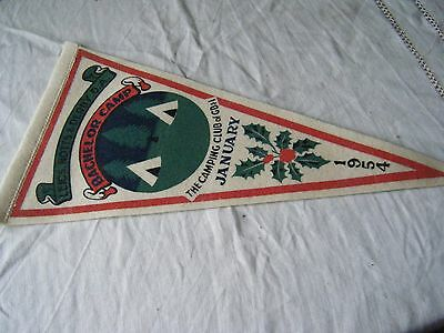 Vintage Camping Club Pennant Flag, Leics, Notts & Derby Da, Bachelor Camp 1954