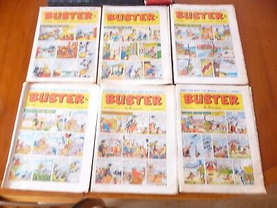 6 x BUSTER COMICS 1970 *POOR CONDITION PLEASE READ & SEE PICTURES*
