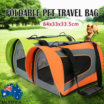 AU Pet Soft Crate Portable Dog Cat Carrier Travel Cage Kennel Folding Large XL