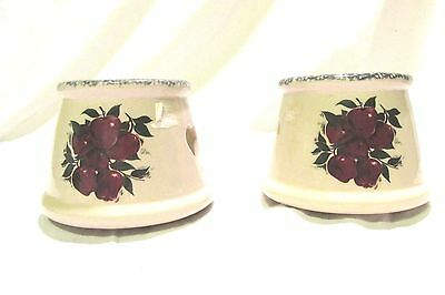 """Home and Garden Candle Jar Shade Apples Country Theme 3"""""""