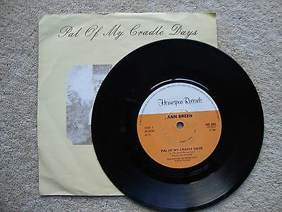 """Ann Breen ~ PAL OF MY CRADLE DAYS ~  7"""" SINGLE 1981 1ST PRESS A/B PICTURE SLEEVE"""